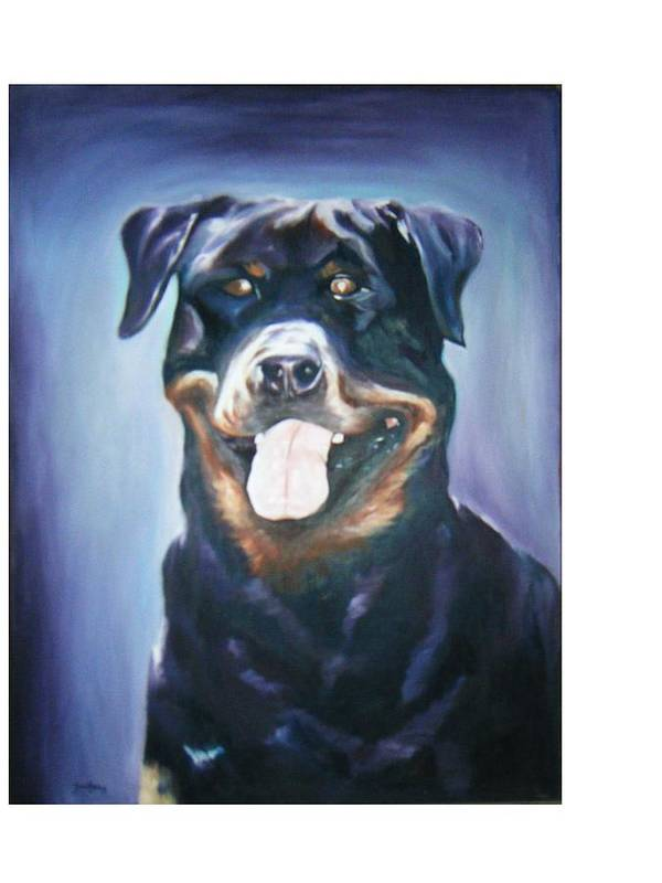 Dog Paintings Poster featuring the painting Dog by Olaoluwa Smith