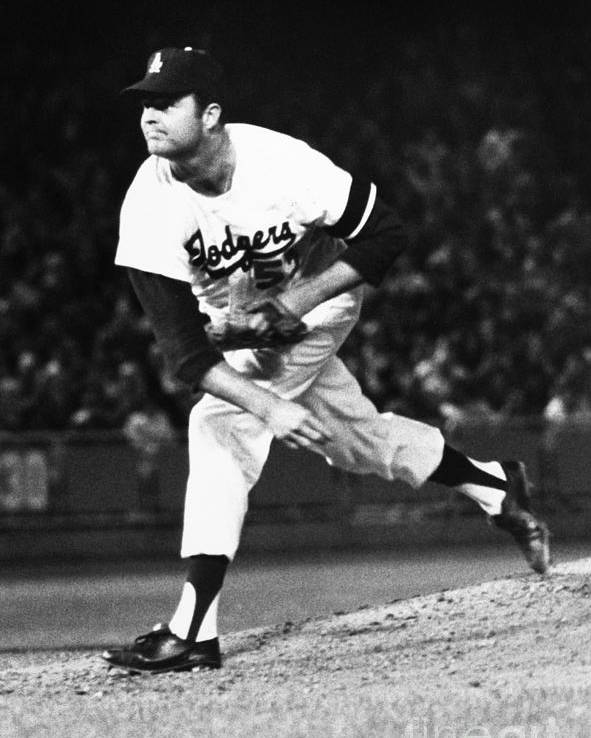 1968 Poster featuring the photograph Don Drysdale (1936-1993) by Granger