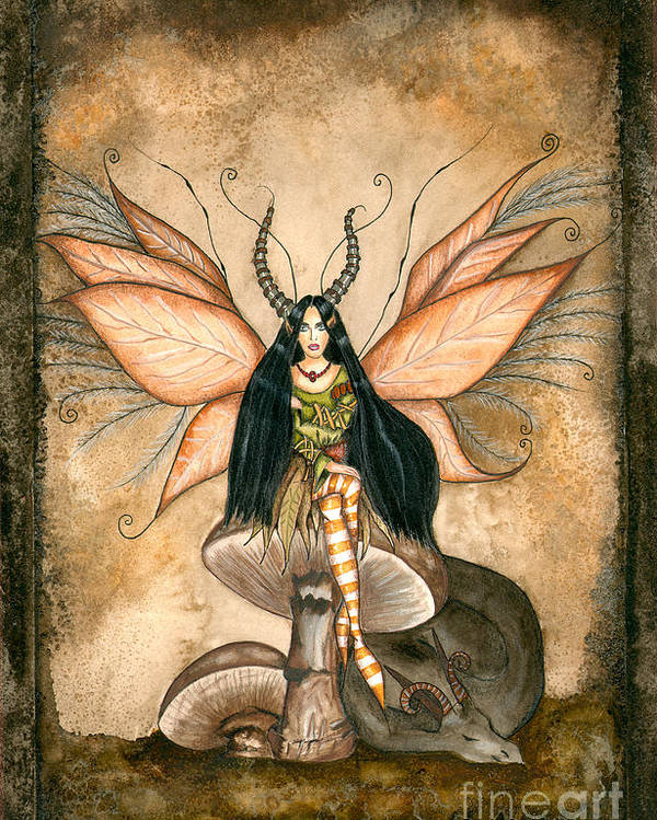 Faery Poster featuring the painting Earth Faery by Alysa Fioretzi