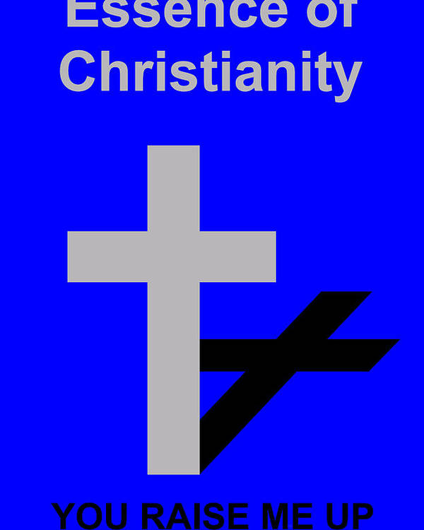 Christ Poster featuring the digital art Essence of Christianity by Asbjorn Lonvig