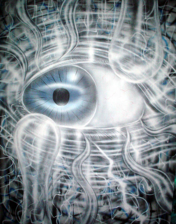 Eye Poster featuring the painting Eye Knew by Leigh Odom