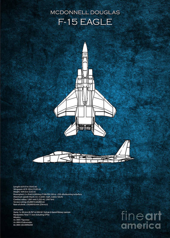 F 15 eagle blueprint poster by j biggadike f15 poster featuring the digital art f 15 eagle blueprint by j biggadike malvernweather Images