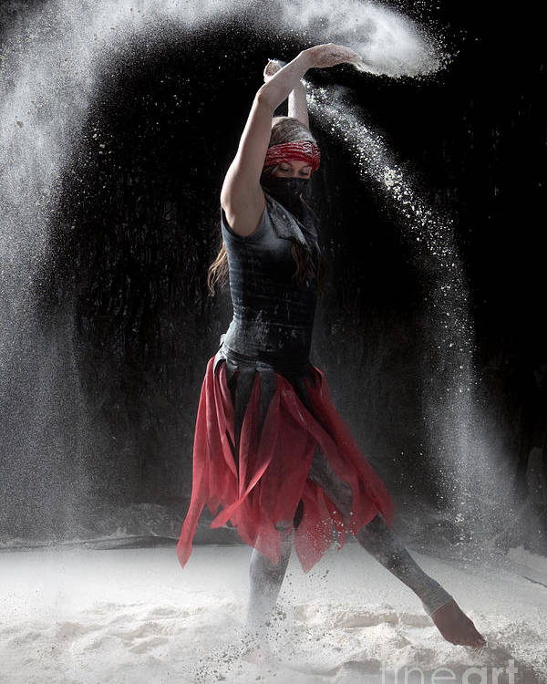 Dancing Poster featuring the photograph Flour Dancing Series by Cindy Singleton