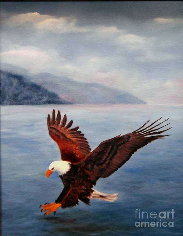 Eagle Poster featuring the painting Free by Jerry Walker