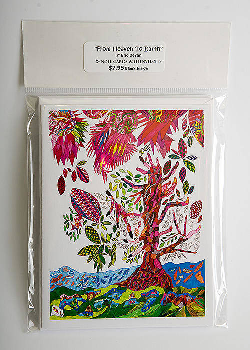 Greeting Cards Poster featuring the painting From Heaven To Earth by Eric Devan