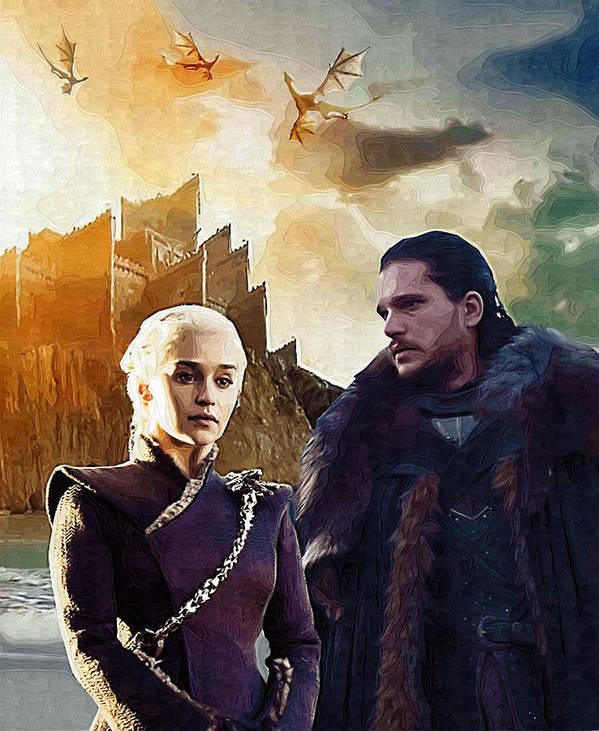 Game Of Thrones Jon Snow And Daenerys Targaryen Poster