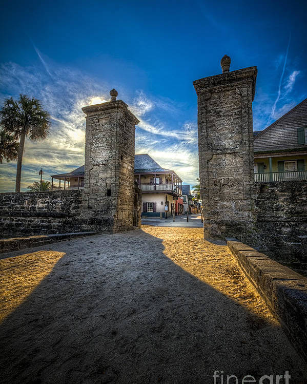 Fort Poster featuring the photograph Gate To The City by Marvin Spates