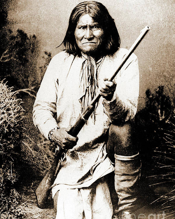 Native Poster featuring the photograph Geronimo by Gary Wonning