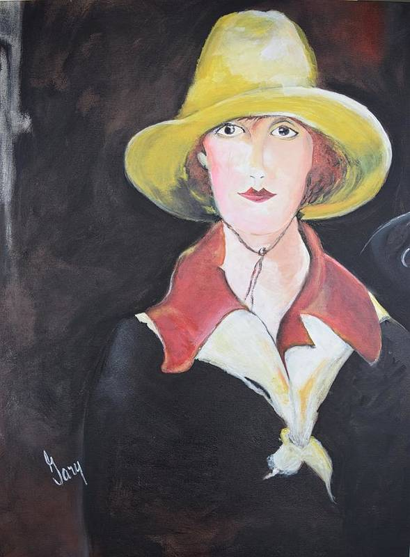 Girl Poster featuring the painting Girl In Riding Hat by Gary Smith