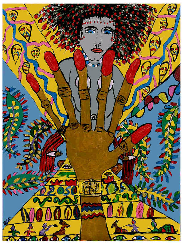 Poster featuring the painting Give Me Six by Betty Roberts