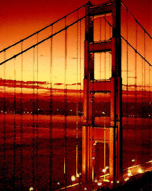 Golden Gate Poster featuring the photograph Golden Gate Bridge by Gene Sizemore