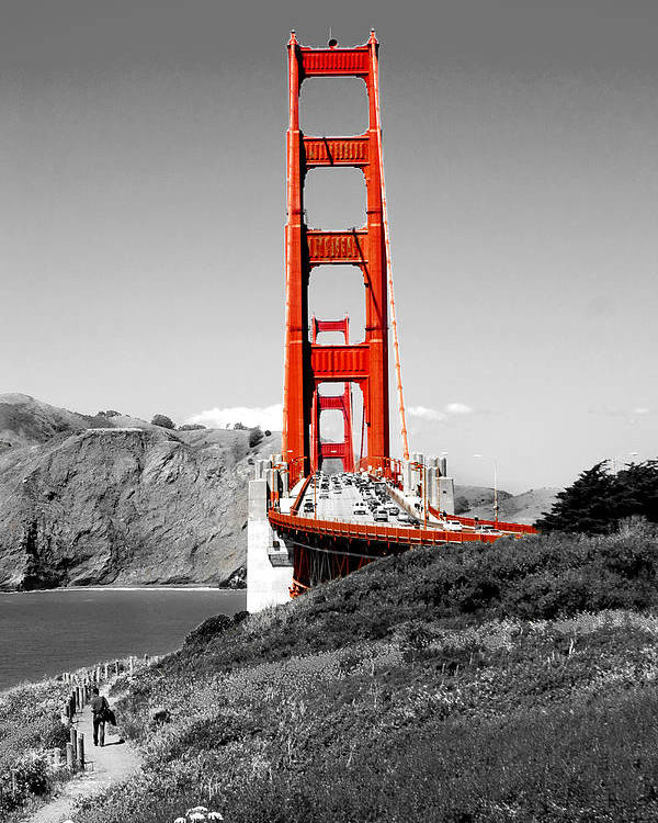 City Poster featuring the photograph Golden Gate by Greg Fortier