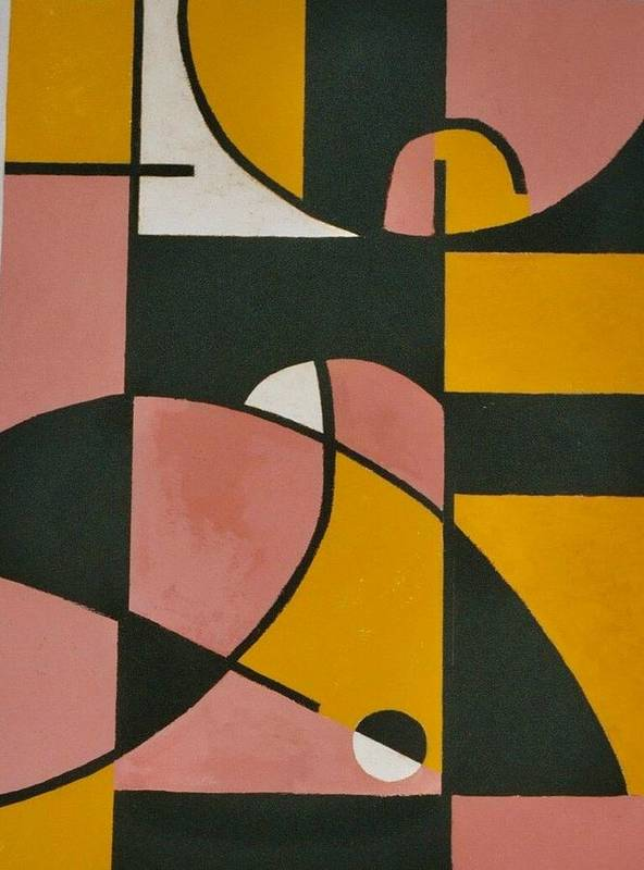 Abstract Poster featuring the painting Grace At The Ritz by Nicholas Martori