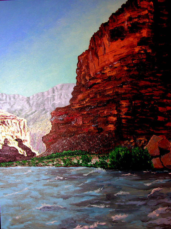 Grand Canyon Poster featuring the painting Grand Canyon II by Stan Hamilton