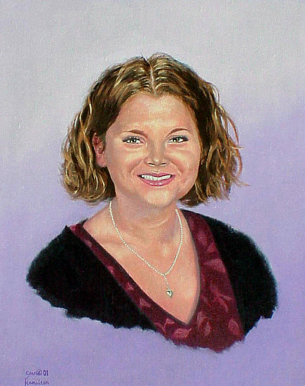 Portrait In Oil Poster featuring the painting Heather by Stan Hamilton