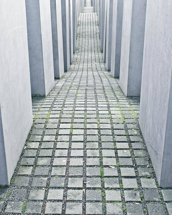 Abstract Poster featuring the photograph Holocaust Memorial by Tom Gowanlock