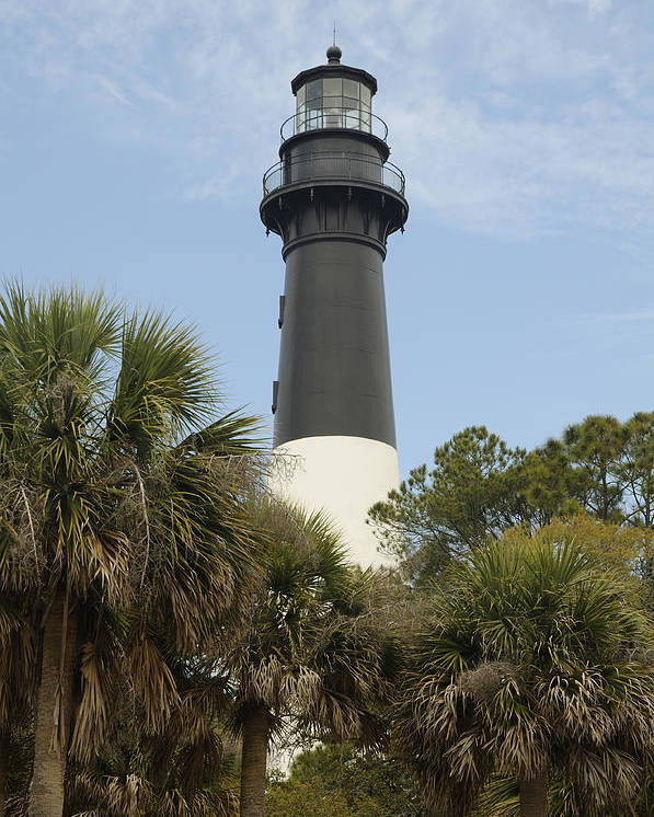 Hunting Island Poster featuring the photograph Hunting Island Lighthouse by Darrell Young