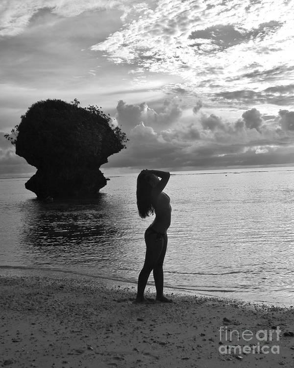Beautiful-island Girl-chamorrita-shani-female-model-posing Poster featuring the photograph Island Girl by Scott Cameron