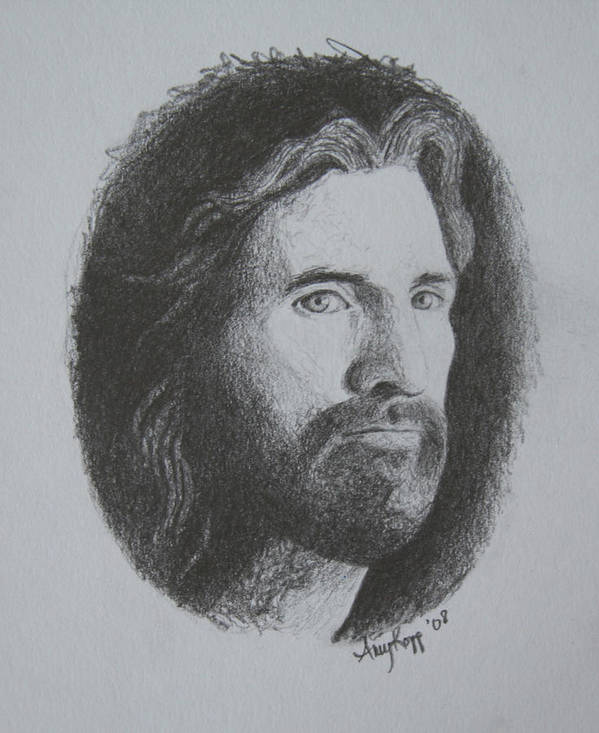 Portrait Poster featuring the print Jesus by Amy Parker