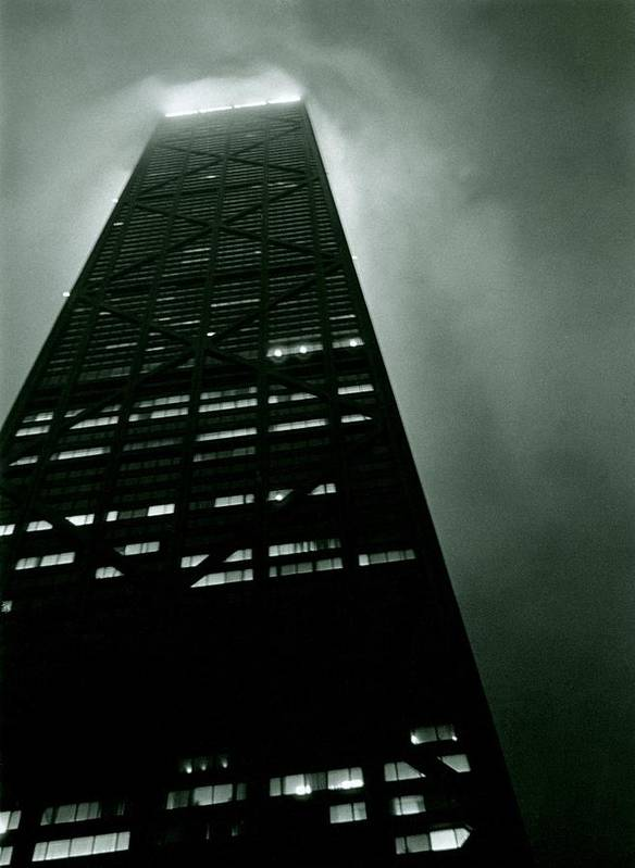 Geometric Poster featuring the photograph John Hancock Building - Chicago Illinois by Michelle Calkins