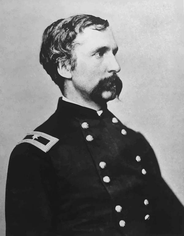 Joshua Lawrence Chamberlain Poster featuring the painting Joshua Lawrence Chamberlain by War Is Hell Store