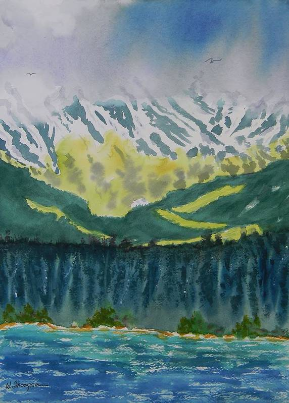 Juneau Landscape Poster featuring the painting Juneau Landscape by Warren Thompson