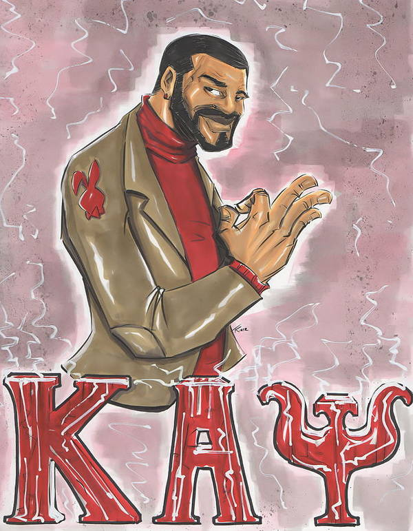 Kappa Poster featuring the drawing Kappa Alpha Psi Fraternity Inc by Tu-Kwon Thomas