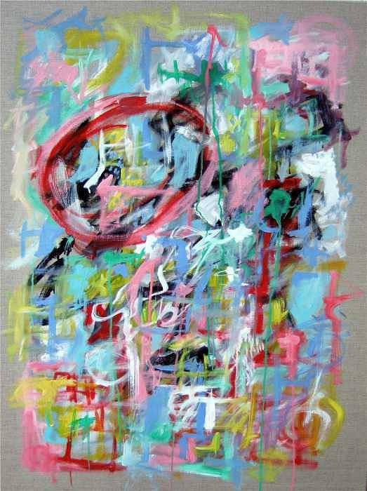 Abstract Poster featuring the painting Large Abstract No 5 by Michael Henderson
