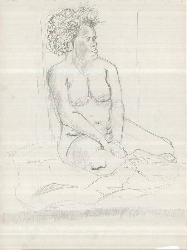 Poster featuring the drawing Life Drawing by Joseph Arico