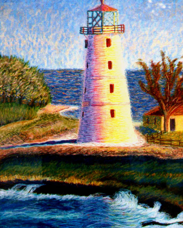 Lighthouse Poster featuring the painting Lighthouse by Stan Hamilton