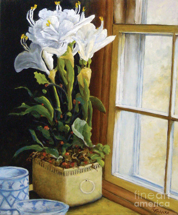 Art Poster featuring the painting Lillies by Richard T Pranke
