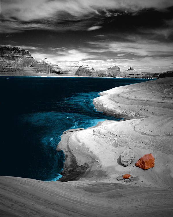 Photography Poster featuring the photograph Liquid Blue Inlets by Tom Fant