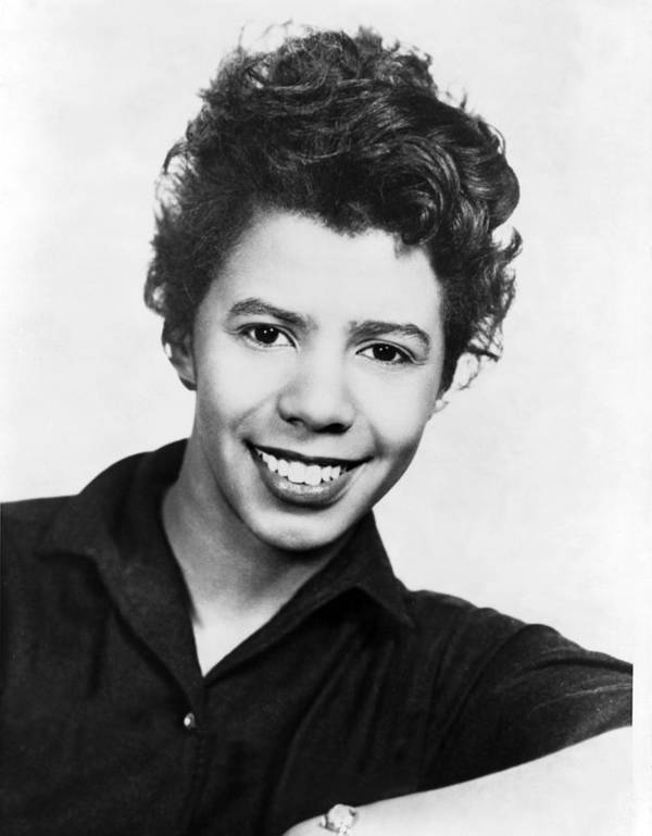 History Poster featuring the photograph Lorraine Hansberry 1930-1965 African by Everett