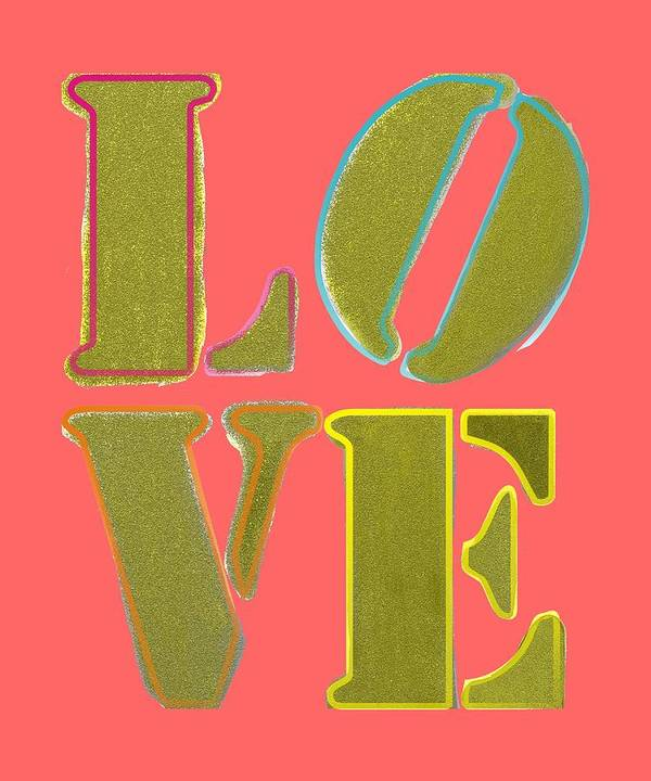 Love Poster featuring the digital art Love by Priscilla Wolfe