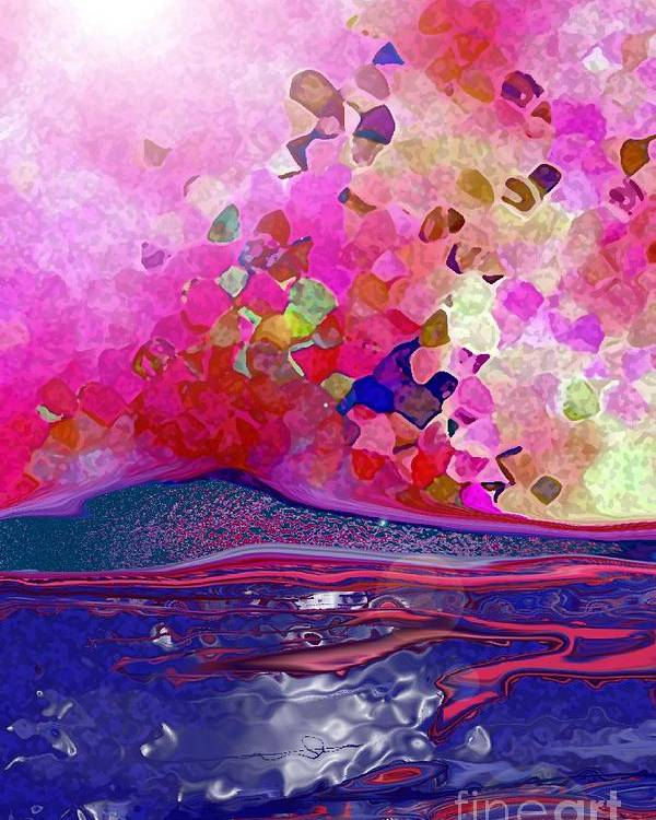Seascape Poster featuring the digital art Luna 1 by Mimo Krouzian