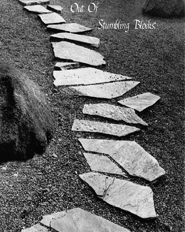 Pathway Poster featuring the photograph Make Stepping Stones Out Of Stumbling Blocks by Rianna Stackhouse