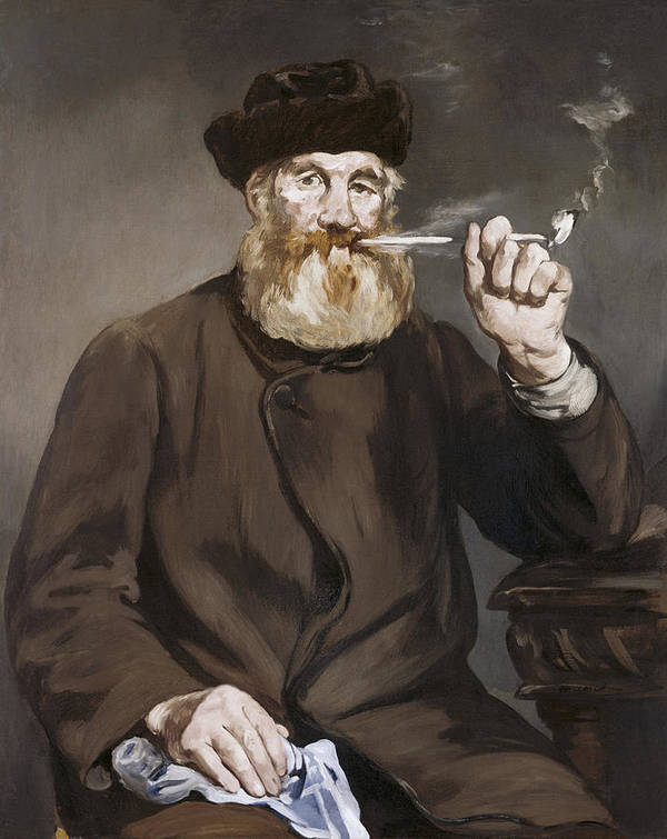 Man Smoking A Pipe By Edouard Manet Poster featuring the painting Man Smoking A Pipe by Edouard Manet