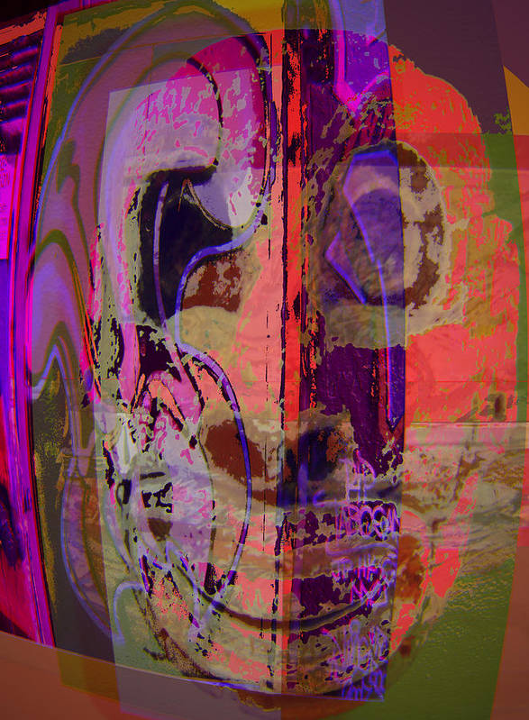 Mask Poster featuring the mixed media Mask by Noredin Morgan