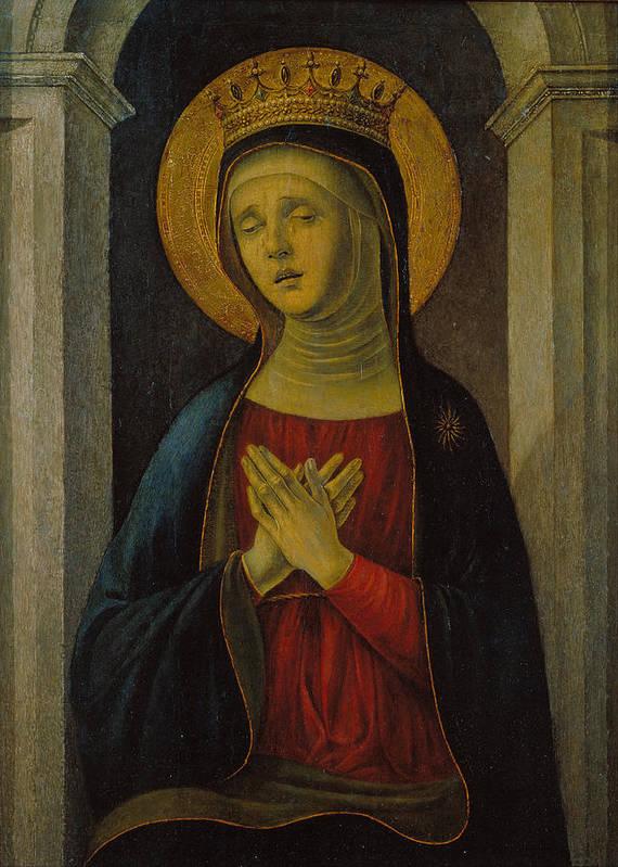 Baldassare D'este Poster featuring the painting Mater Dolorosa by Baldassare d'Este