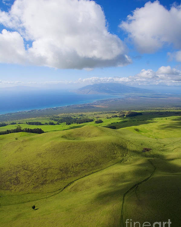 Aerial Poster featuring the photograph Maui Aerial by Ron Dahlquist - Printscapes