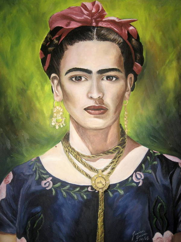 Frida Poster featuring the painting Mi Bella Frida by Jessica De la Torre
