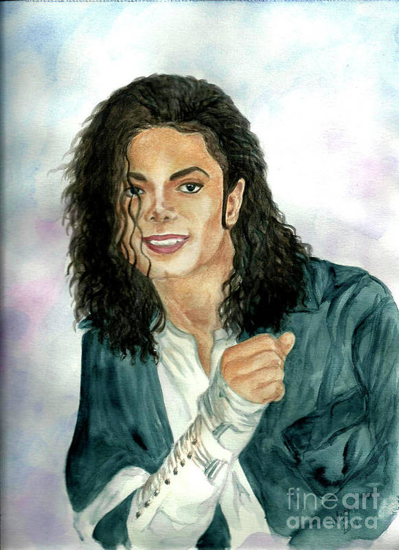 Michael Jackson Poster featuring the painting Michael Jackson - Will You Be There by Nicole Wang