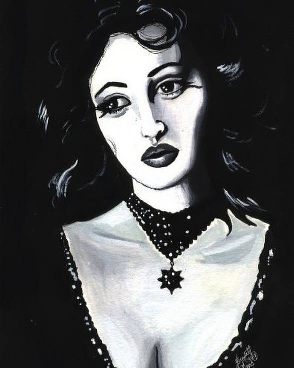 Monica Poster featuring the painting Monica by Scarlett Royal