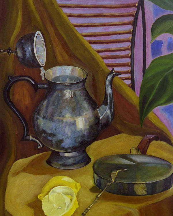 Still Life Poster featuring the painting Morning by Antoaneta Melnikova- Hillman