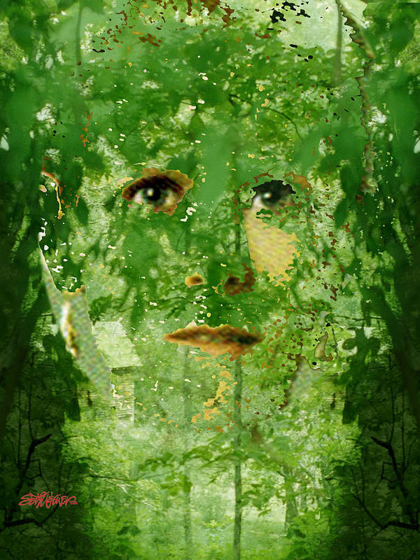 Lady Poster featuring the digital art Mother Nature by Seth Weaver