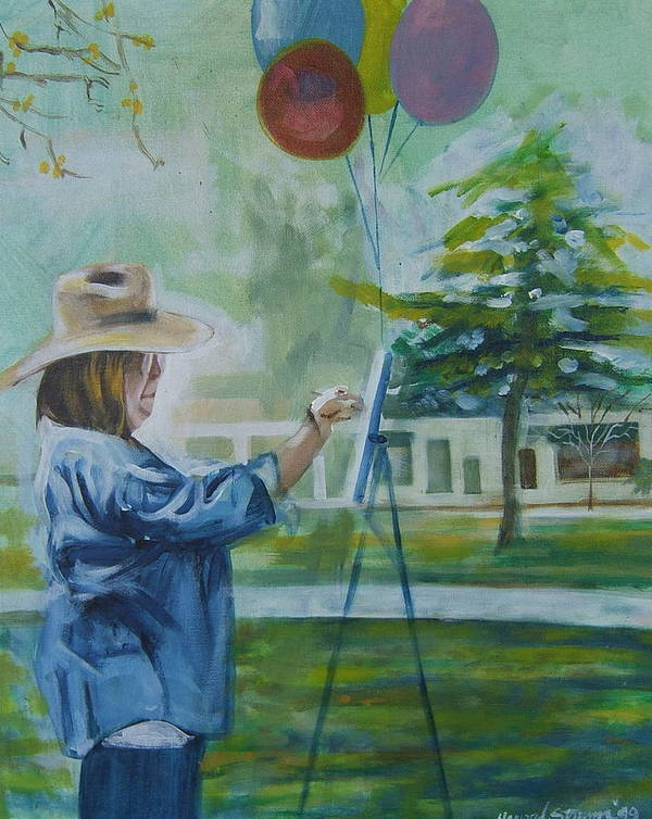 Artist At Work Poster featuring the painting Nancy by Howard Stroman