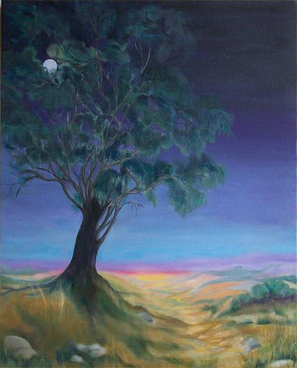 Night Sky Poster featuring the painting New Day by Irene Corey