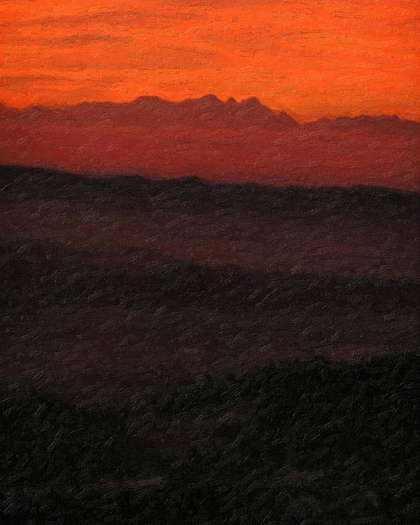 �not Quite Rothko� Collection By Serge Averbukh Poster featuring the photograph Not quite Rothko - Blood Red Skies by Serge Averbukh