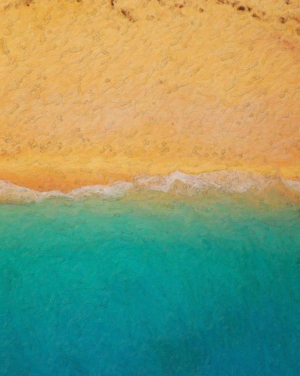 �not Quite Rothko� Collection By Serge Averbukh Poster featuring the photograph Not quite Rothko - Surf and Sand by Serge Averbukh