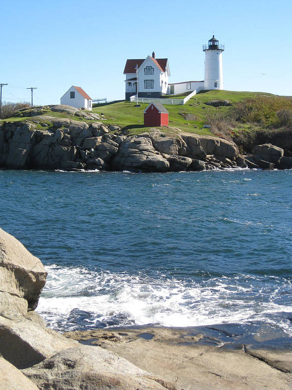 Nubble Poster featuring the photograph Nubble In October by Bridget Mullane